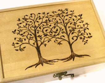Wedding Trees Keepsake Box: Guest Book Alternative, Ring Box, Wedding Card Box, Wishing Tree