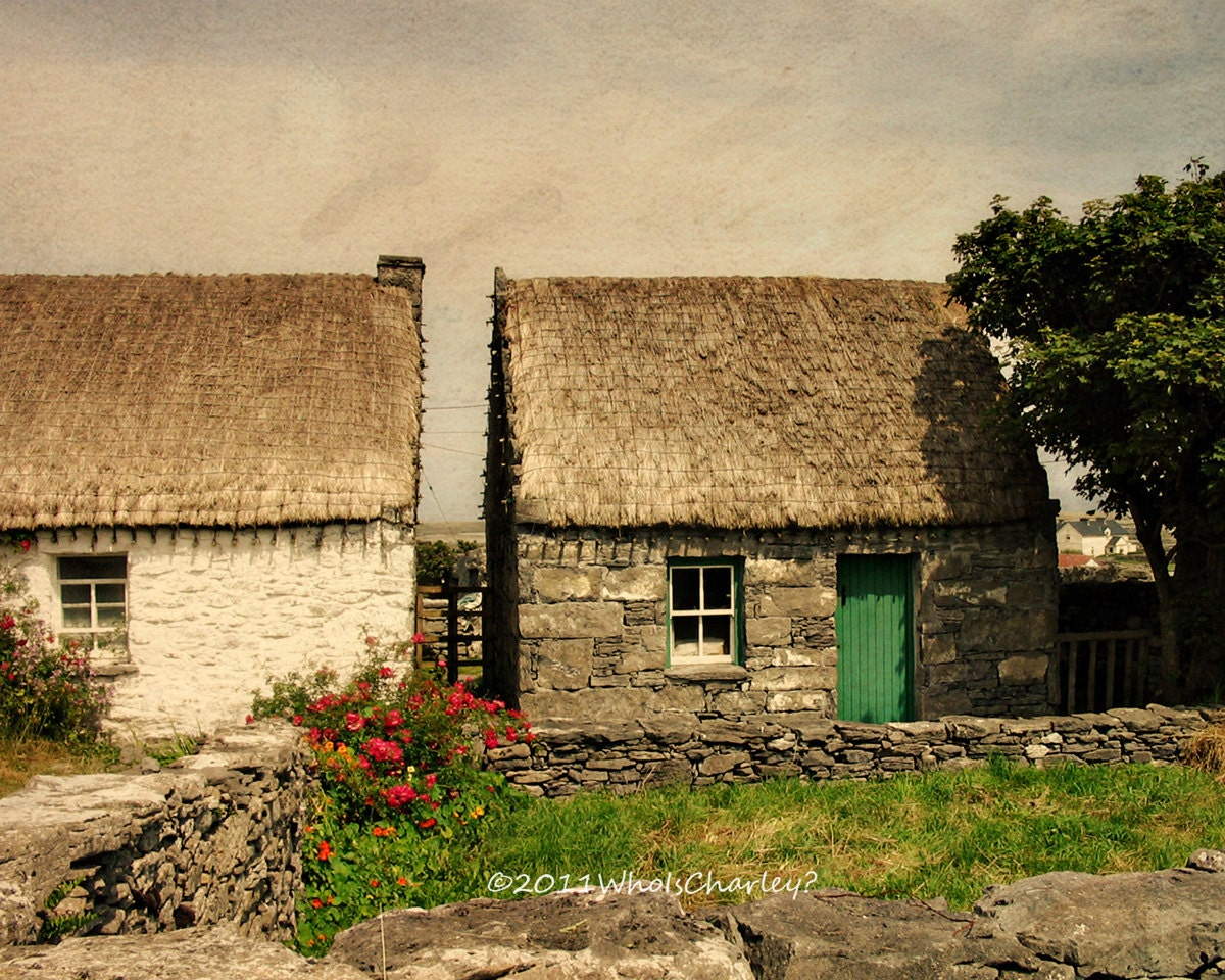 2 thatched roof cottages ireland photo fine art photography. Black Bedroom Furniture Sets. Home Design Ideas