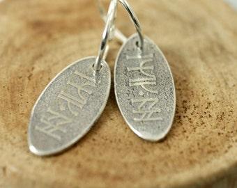 Good Luck Earrings - Kili's Rune Charm from the Hobbit