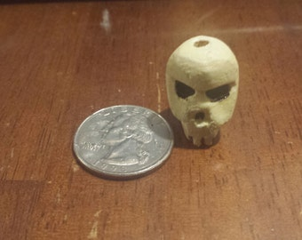 Glow in the Dark Skull Bead- handmade