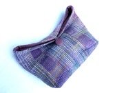 Handwoven Lavender Clutch / Purse, Unique Clutch for Party, Wedding, Maid of Honor, Bridesmaid Clutch