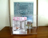 RESERVED  Vintage Lucite Magazine or Album Holder