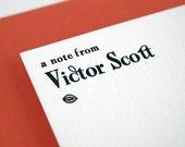 Flat Letterpress Stationery Set - Flat Note Cards - Modern Stationery Vintage Style - Atrium