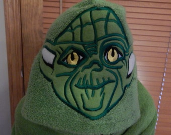 Jedi Master Hooded Towel - Free Personalization