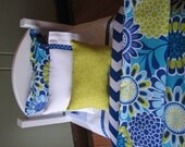 """Blue / Green Flower Bedding Set for American Girl Doll or similar 18"""" dolls"""
