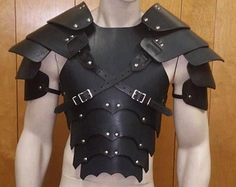 Leather Armor Sentinel Gothic chest back & shoulders