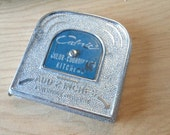 Vintage Tape Measure, 10 Ft., Small Metal Case, Industrial, Office, Home, Prop, Props, Advertising, Desk Supplies, Mad Men, All Vintage Man
