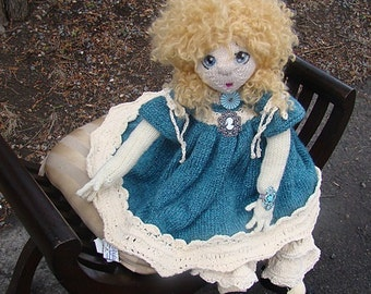 "Pattern for  ""Serenity with Scarlett options"" Raggedy Lottie ragdoll doll knitted doll Bunny rabbit"