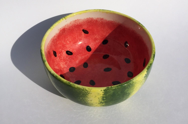 ceramic watermelon bowl