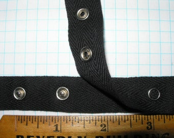 Black Snap tape 1 and 2 Ribbon 3/4 inch wide.