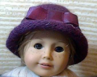 050 Knit Felted Hat for American Girl doll