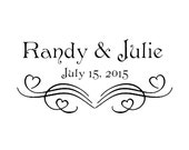 Wedding stamp,save the date stamp,SELF INKING custom address stamp,personalized stamp,heart,WS03