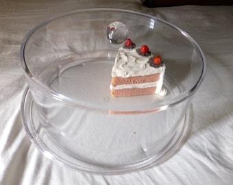 Sale--Large Vintage Lucite Cake Holder