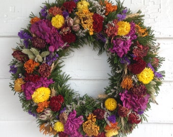 Dried Flower Spring and Summer Wreath