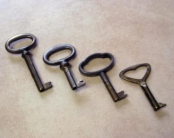 Vintage Decorative Key Set, 4 Retro Furniture Keys, Lot Collectible Keys, Steampunk keys, Old Keys