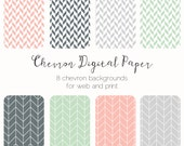 Geometric Chevron Seamless Background Digital Paper Seamless Pattern Scrapbook Paper Web Tiles Printable Paper