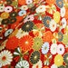 Red and gold kiku japanese cotton  fabric half a yard, quilt decoration tenugui japanese flowers cotton fabric,