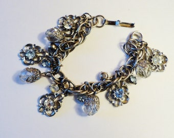 Vintage Victorian Style Charm Bracelet