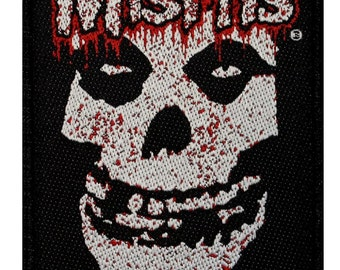 Misfits Dripping Blood Fiend Skull Horror Punk Rock Band Sew On Applique Patch