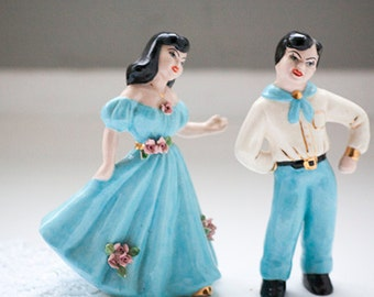 Pair of Figurines, Spanish Dancers, Spanish Couple
