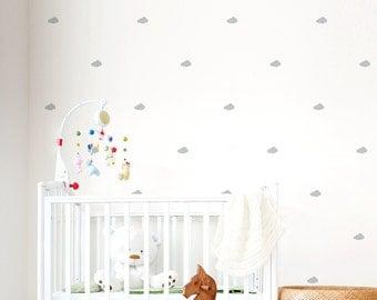 sticker nuage nuage blanc stickers muraux. Black Bedroom Furniture Sets. Home Design Ideas