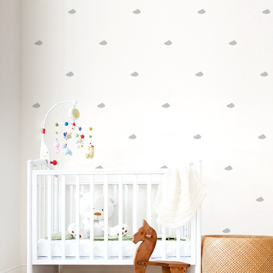 Mini Clouds Wall Decals Cloud Wall Decal Nursery Cloud Tiny - Wall decals in nursery