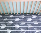 Crib Sheet Charcoal Arrows. Fitted Crib Sheet. Baby Bedding. Crib Bedding. Minky Crib Sheet. Crib Sheets. Gray Crib Sheet.