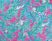 17 X 18 inches Lilly Pulitzer  Capri Pink Trunk Show