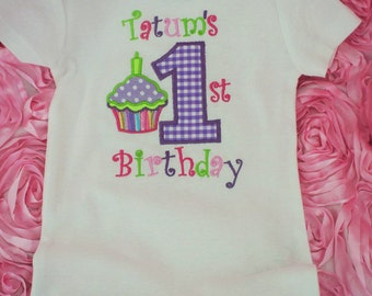 Girls first birthday, girls birthday bodysuit