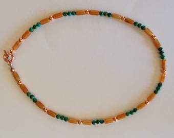 Carnelian with Turquoise Necklace