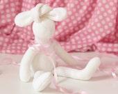 Plush Bunny Doll Softie Small Rabbit Doll Stuffed Animal Toy for children White Softie Plush Animal Doll