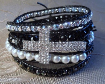 "Crystal Pearl ""Wrapped in Faith"" bracelet/belt"