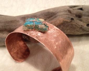 Arizona Turquoise and Copper Cuff