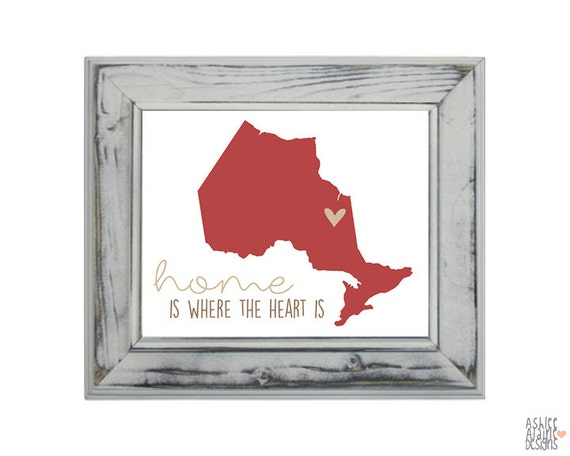 home decor stores in ontario items similar to ontario province canada wall print 12544