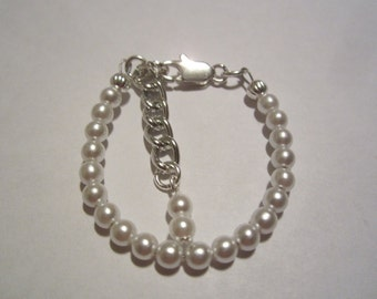Newborn baby white Japanese pearl bracelet