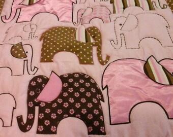 Pink Elephants Quilt