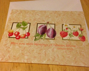 Blessings Blank Note Card