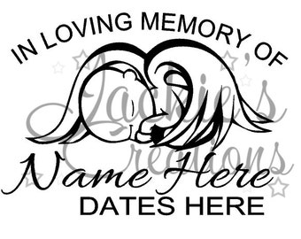 In Loving Memory of Decal with Baby