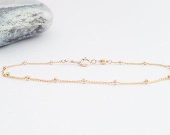 Satellite bracelet Gold filled - delicate gold filled bracelet - gold filled knot bracelet - dainty gold bracelet - gold satellite bracelet