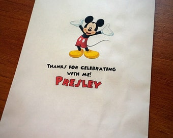 Mickey Mouse candy bags, Mickey Mouse favor bags