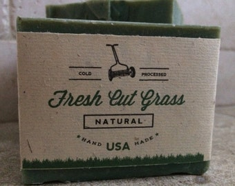 Fresh Cut Grass Soap - Cold Processed & Paraben Free *Vegan*