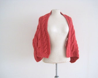 Knitted Scarf, Shoulder Wrap, Knit Scarf, Knit Shawl, Knitted shawl, Shrug, Knitted Shrug, Evening Shawl, Pink Wrap, Mother of the Bride