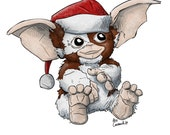 Gremlins Gizmo Christmas Card