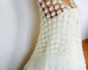 Bridal Ivory Shawl, Bride Accessories,