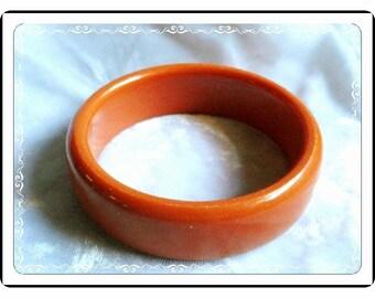 Orange Sherbert Bracelet  -  Yum Retro Vintage Bangle  - Brac-1747a-052114005