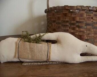 Primitive Long White Rabbit Spring Easter Decor Shelf Sitter
