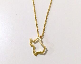 Silver Texas Necklace // Gold Texas Necklace // Texas Outline Necklace //  Tiny Texas Necklace // State Necklace