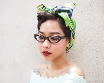 Cateye Frames Vintage 1960's Made In Italy Multi Color Blue And Black Color By Rivera Co.