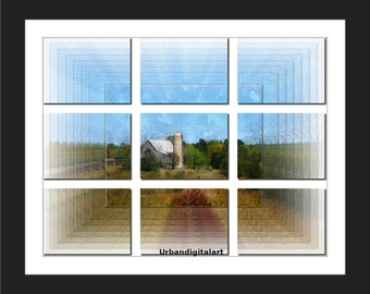 Ontario Barn-LOW COST Downloadable Art Print-Abstract Art Print-Will Look Great At Home Or Office Wall