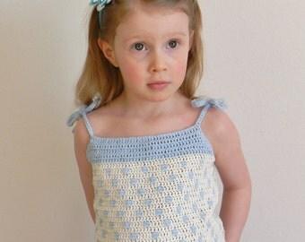Crochet Pattern - Polka Dot Top, Crochet Top Pattern, Crochet Tank Top Pattern, Crochet Girls Top Pattern, Crochet Summer Top Pattern.